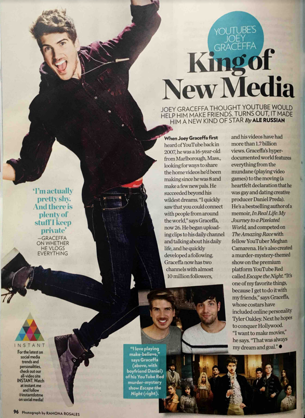 People Magazine names client, Joey Graceffa, the King of New